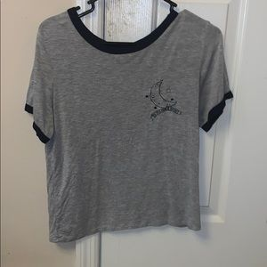 H&M Tops - to the moon and back crop t shirt